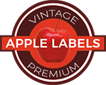 Vintage Apple Labels Retina Logo